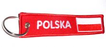 Embroidered 'POLSKA' Keyrings With Polish Flag